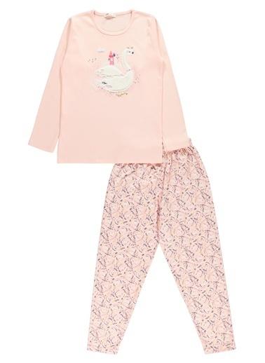 Civil Girls Kız Çocuk Pijama Takım Pudra